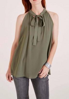 Chiffon blouse, olive