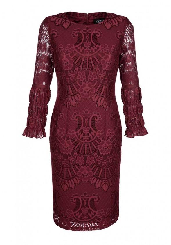 Kokteilinė bordo Amy Vermont suknelė