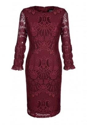 Lace dress, bordeaux