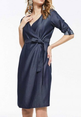 Denim dress, dark blue