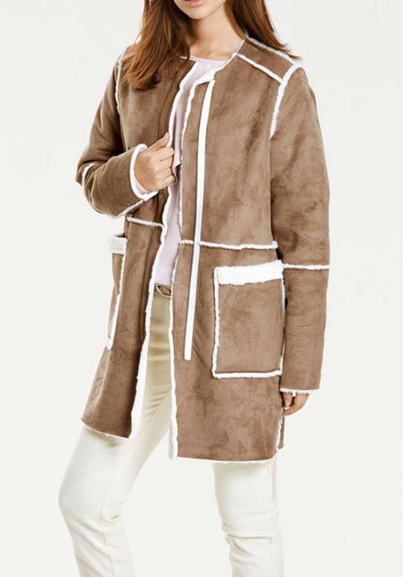 Išverčiamas dviejų pusių kailinis paltas