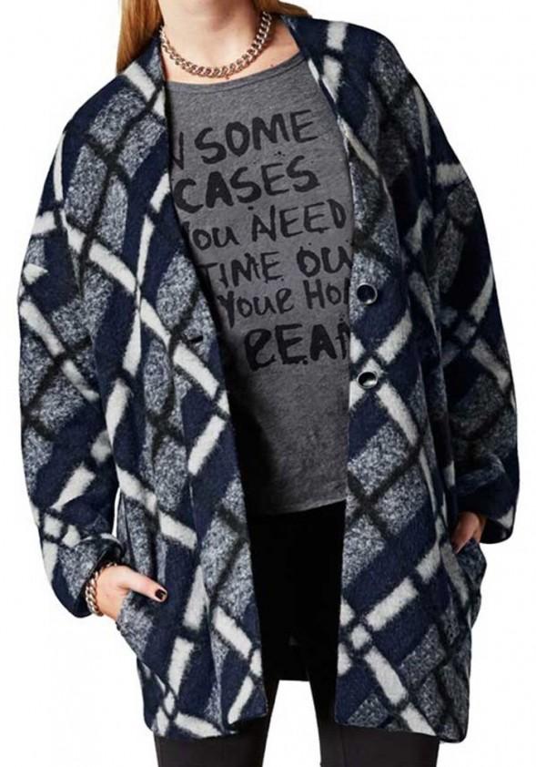 Mėlynas vilnos paltukas
