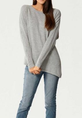 Cashmere sweater, grey blend