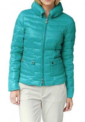 Down jacket, turquoise