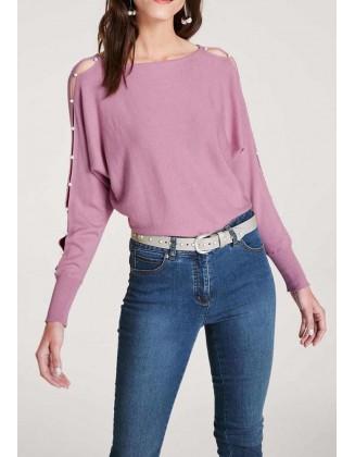 """Levandų spalvos megztinis """"Perl"""""""