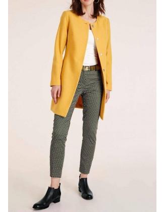 Geltonas paltas su vilna