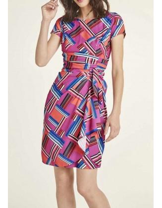"""Rausva suknelė """"Design"""""""