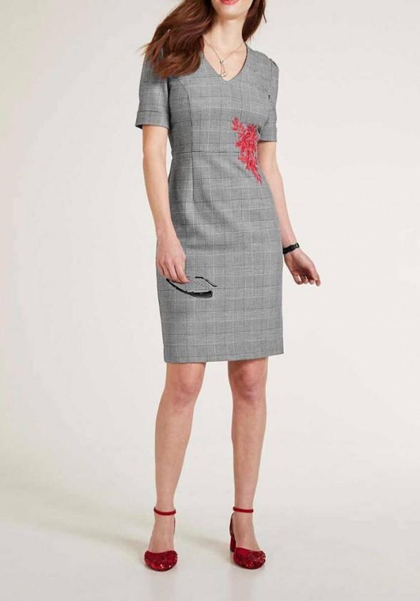"""Pilka klasikinė suknelė """"Embry"""". Liko 40 dydis"""