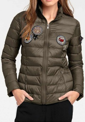 Jacket with patches, olive