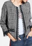 Short jacket, black-white
