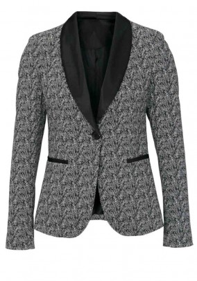 Women's suit, black-white