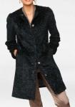 Juodas kailinis paltas