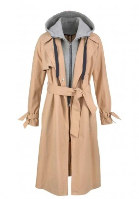 Trenchcoat two-in-one, beige-grey