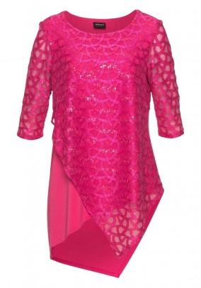 Žvyneliais dekoruota rožinė tunika