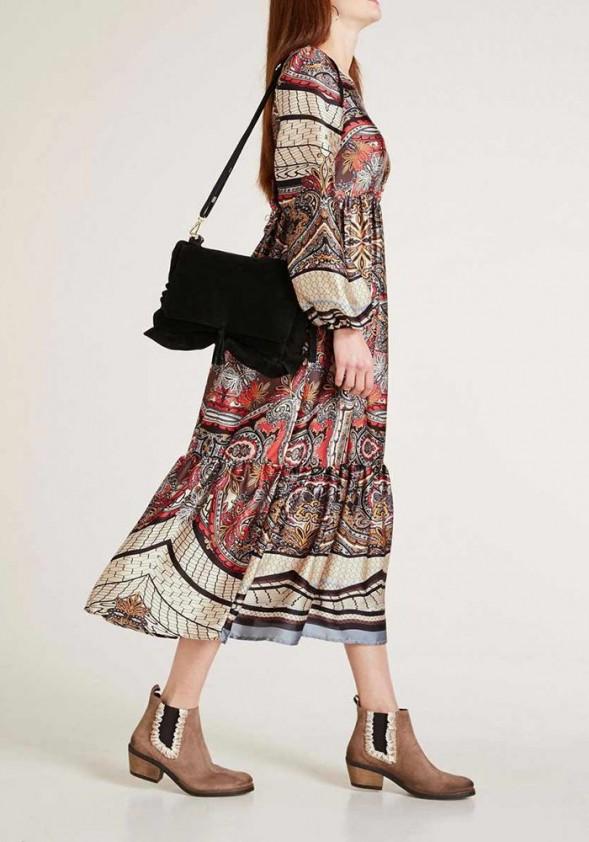 Rudens spalvų midi suknelė