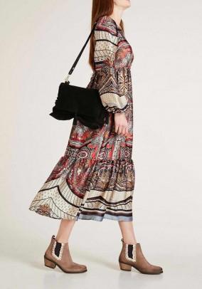 Satin maxi dress, multicolour