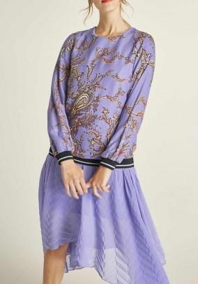 Print blouse, lavender-multicolour