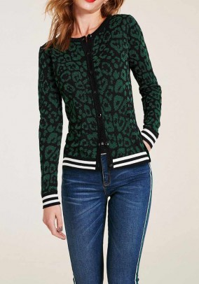 Cardigan, black-green