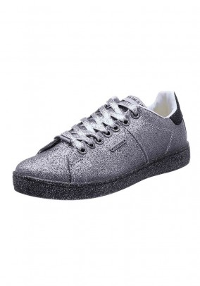 Brand sneaker, old silver coloured