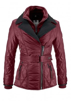 Quilted jacket, bordeaux