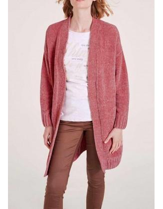 "Ilgas rausvas megztinis ""Chanel"""