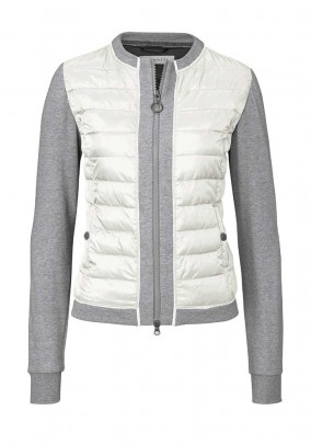 Quilted jacket, cream-grey blend