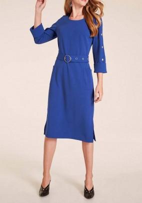 Mėlyna midi suknelė