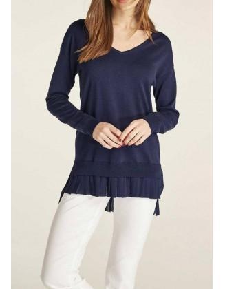 "Tamsiai mėlynas megztinis ""Bella"""