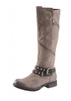 Boots, taupe