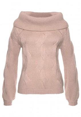 Rausvas VILA megztinis su vilna