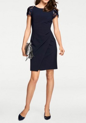 Lace dress, navy