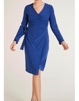 """Mėlyna susiaučiama suknelė """"Wrapy"""""""