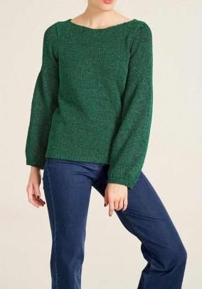 Žalias metalizuotas megztinis