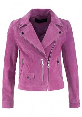 Leather jacket, lavender