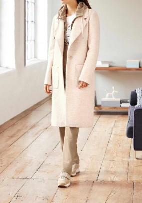 Smėlinis vilnos paltas. Liko 42/44 dydis