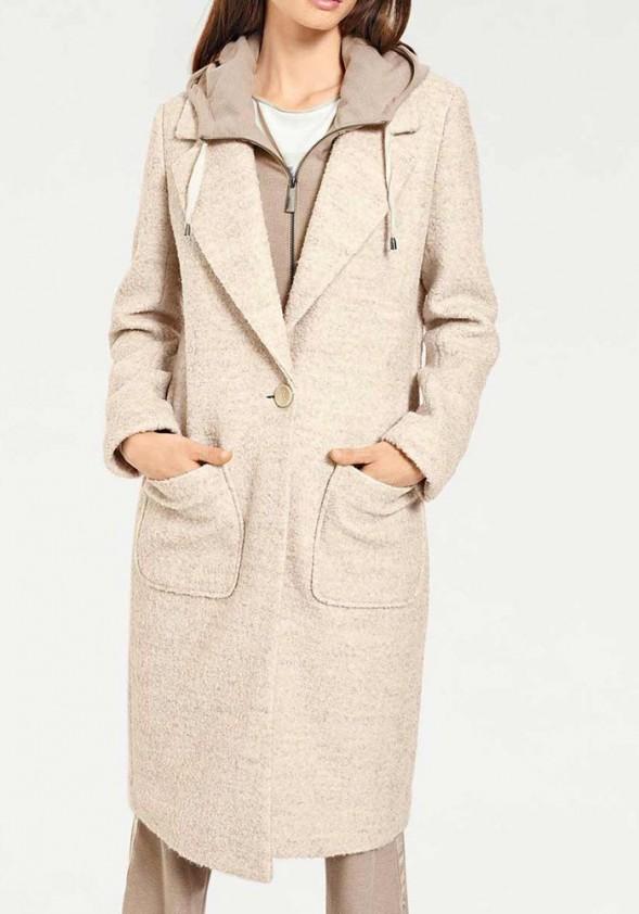 Smėlinis vilnos paltas