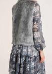 Weave fur vest, grey