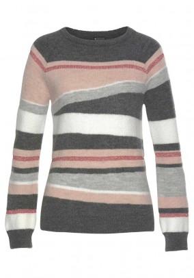Pilkas pastelinis megztinis