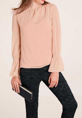Chiffon blouse with top