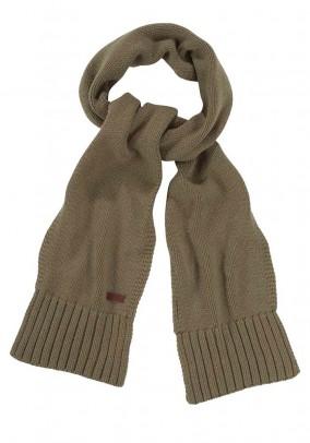 Fine knit scarf, olive