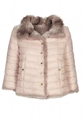 Brand reversible jacket, nude-nature