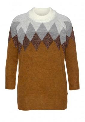 Norvegiško rašto rudas megztinis