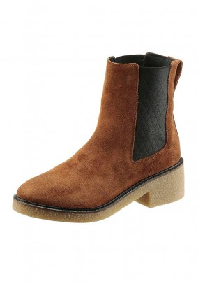 Brand suede chelsea boots, cognac