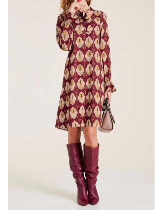 """Raštuota suknelė """"Burgundy"""""""