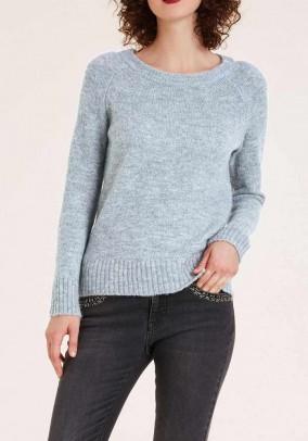 Šviesiai mėlynas megztinis su vilna
