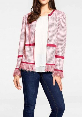 Rausvas megztinis su kutais