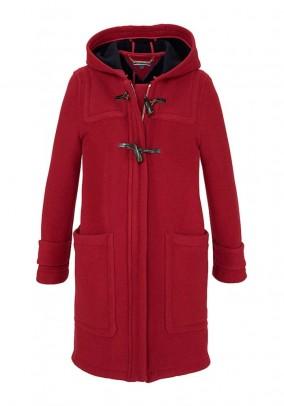 Raudonas TOMMY HILFIGER vilnonis paltas. Liko M/L dydis