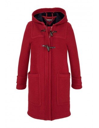 Raudonas TOMMY HILFIGER vilnonis paltas