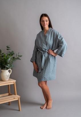 "Dotty linen robe ""Kimono"""