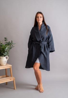 """Graphite linen robe """"Classic"""""""